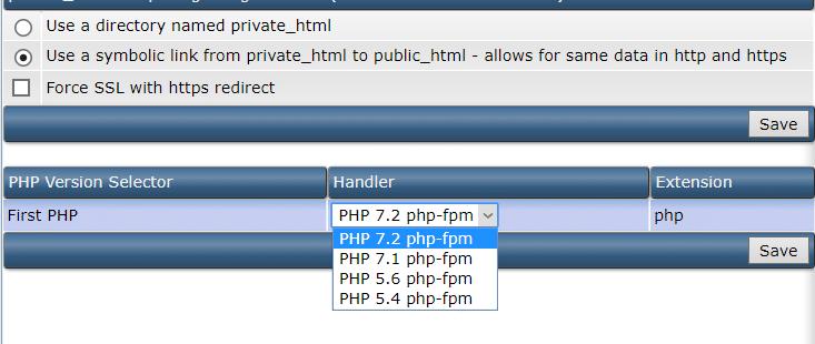 تغییر php در هاست دایرکت ادمین